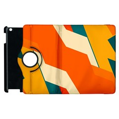 Shapes In Retro Colors                                                                                  			apple Ipad 2 Flip 360 Case by LalyLauraFLM