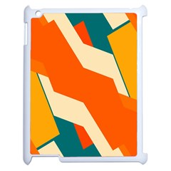 Shapes In Retro Colors                                                                                  			apple Ipad 2 Case (white) by LalyLauraFLM