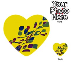 Yellow Abstraction Multi Purpose Cards (heart)
