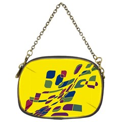 Yellow Abstraction Chain Purses (two Sides)  by Valentinaart