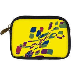 Yellow Abstraction Digital Camera Cases by Valentinaart