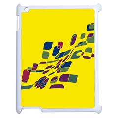 Yellow Abstraction Apple Ipad 2 Case (white) by Valentinaart