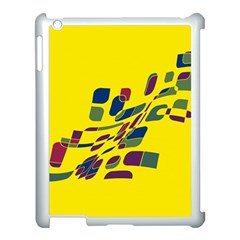 Yellow Abstraction Apple Ipad 3/4 Case (white) by Valentinaart