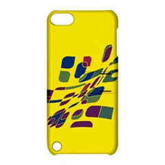 Yellow Abstraction Apple Ipod Touch 5 Hardshell Case With Stand