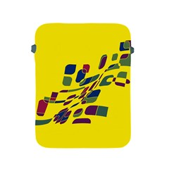 Yellow Abstraction Apple Ipad 2/3/4 Protective Soft Cases by Valentinaart