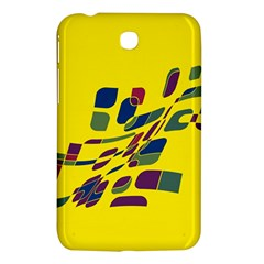 Yellow Abstraction Samsung Galaxy Tab 3 (7 ) P3200 Hardshell Case