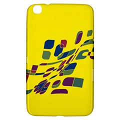 Yellow Abstraction Samsung Galaxy Tab 3 (8 ) T3100 Hardshell Case