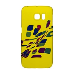 Yellow Abstraction Galaxy S6 Edge by Valentinaart