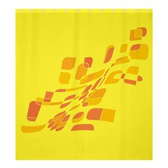 Yellow Abstraction Shower Curtain 66  X 72  (large)  by Valentinaart