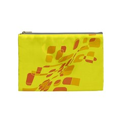 Yellow Abstraction Cosmetic Bag (medium)  by Valentinaart