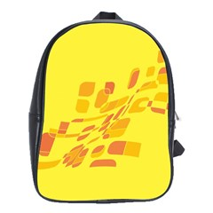 Yellow Abstraction School Bags(large)  by Valentinaart