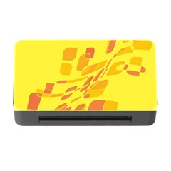 Yellow Abstraction Memory Card Reader With Cf by Valentinaart