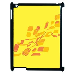 Yellow Abstraction Apple Ipad 2 Case (black) by Valentinaart