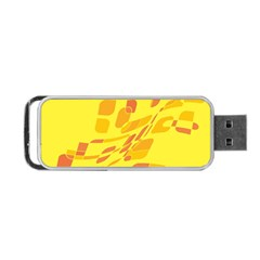 Yellow Abstraction Portable Usb Flash (two Sides) by Valentinaart