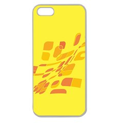 Yellow Abstraction Apple Seamless Iphone 5 Case (clear) by Valentinaart
