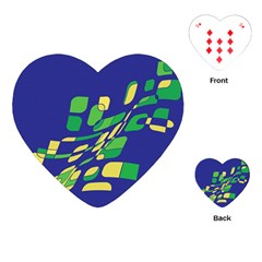 Blue Abstraction Playing Cards (heart)  by Valentinaart