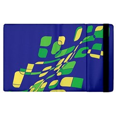 Blue Abstraction Apple Ipad 3/4 Flip Case by Valentinaart