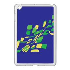 Blue Abstraction Apple Ipad Mini Case (white) by Valentinaart