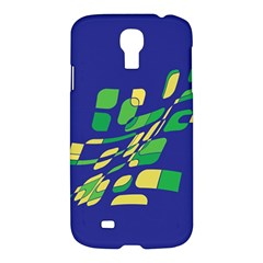 Blue Abstraction Samsung Galaxy S4 I9500/i9505 Hardshell Case by Valentinaart