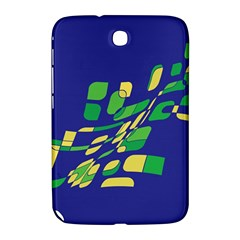 Blue Abstraction Samsung Galaxy Note 8 0 N5100 Hardshell Case  by Valentinaart