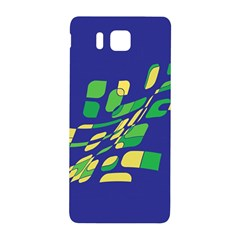 Blue Abstraction Samsung Galaxy Alpha Hardshell Back Case by Valentinaart