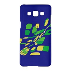 Blue Abstraction Samsung Galaxy A5 Hardshell Case  by Valentinaart