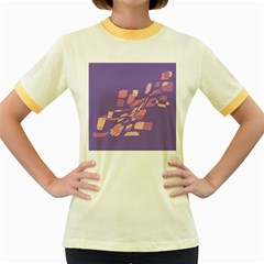 Purple Abstraction Women s Fitted Ringer T Shirts by Valentinaart