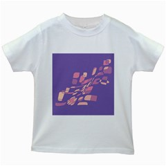 Purple Abstraction Kids White T-shirts by Valentinaart