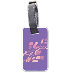 Purple Abstraction Luggage Tags (one Side)  by Valentinaart