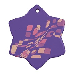 Purple Abstraction Ornament (snowflake)  by Valentinaart