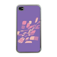 Purple Abstraction Apple Iphone 4 Case (clear) by Valentinaart