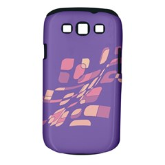 Purple Abstraction Samsung Galaxy S Iii Classic Hardshell Case (pc+silicone) by Valentinaart
