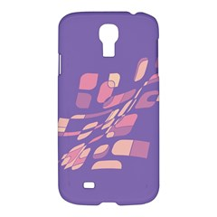 Purple Abstraction Samsung Galaxy S4 I9500/i9505 Hardshell Case by Valentinaart