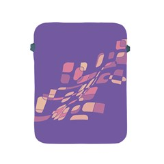 Purple Abstraction Apple Ipad 2/3/4 Protective Soft Cases by Valentinaart