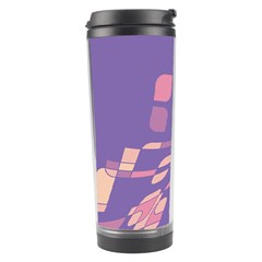Purple Abstraction Travel Tumbler by Valentinaart
