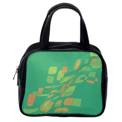 Green Abastraction Classic Handbags (one Side)