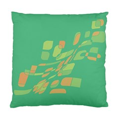 Green Abastraction Standard Cushion Case (one Side) by Valentinaart