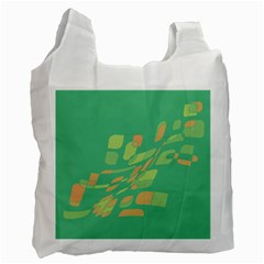 Green Abastraction Recycle Bag (one Side) by Valentinaart