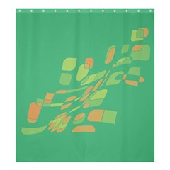 Green Abastraction Shower Curtain 66  X 72  (large)  by Valentinaart