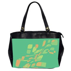 Green Abastraction Office Handbags (2 Sides)  by Valentinaart