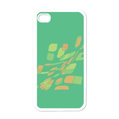 Green Abastraction Apple Iphone 4 Case (white) by Valentinaart