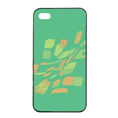 Green Abastraction Apple Iphone 4/4s Seamless Case (black) by Valentinaart