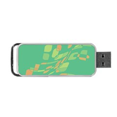 Green Abastraction Portable Usb Flash (one Side) by Valentinaart