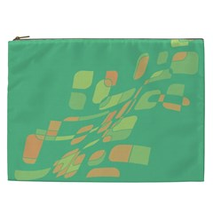 Green Abastraction Cosmetic Bag (xxl)  by Valentinaart
