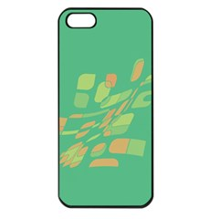 Green Abastraction Apple Iphone 5 Seamless Case (black) by Valentinaart