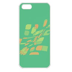 Green Abastraction Apple Iphone 5 Seamless Case (white) by Valentinaart