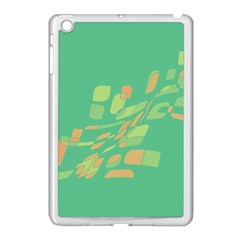 Green Abastraction Apple Ipad Mini Case (white) by Valentinaart