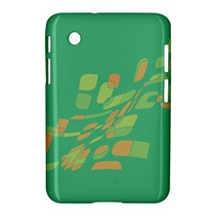Green Abastraction Samsung Galaxy Tab 2 (7 ) P3100 Hardshell Case  by Valentinaart