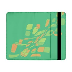 Green Abastraction Samsung Galaxy Tab Pro 8 4  Flip Case by Valentinaart