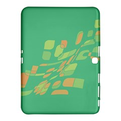 Green Abastraction Samsung Galaxy Tab 4 (10 1 ) Hardshell Case  by Valentinaart